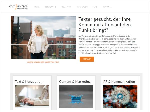 Responsive Webdesign - Referenz comjunicate