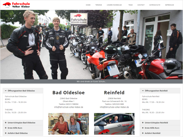 Responsive Webdesign Referenz - Fahrschule, Bad Oldesloe