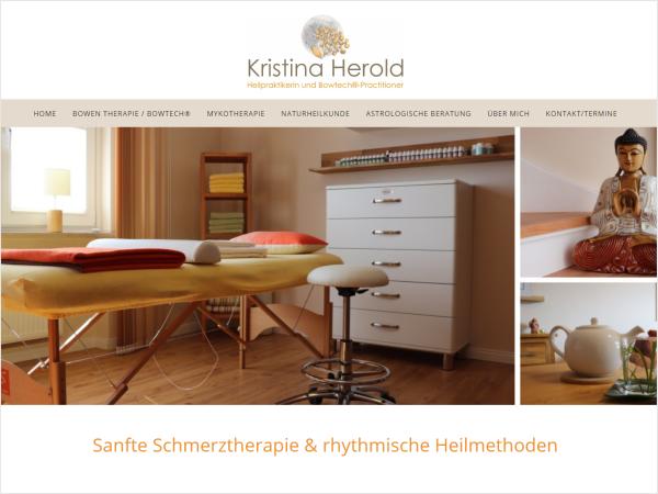 Responsive Webdesign - Referenz Kristina Herold, Lentföhrden