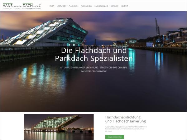 Webdesign für HANS.eatische DACH.technik