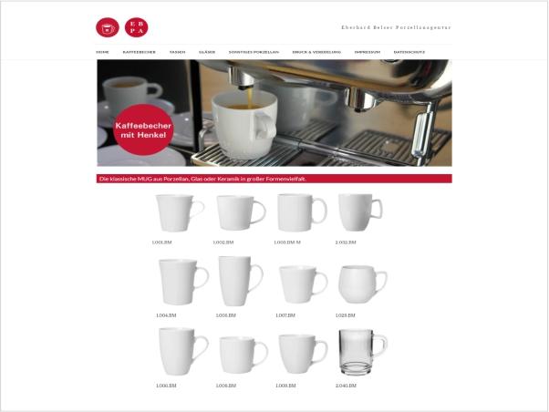 Responsive Webdesign - Referenz Porzellanagentur