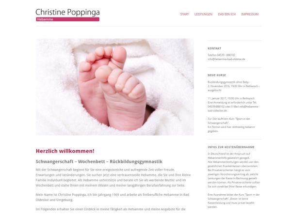 Responsive Webdesign Referenz - Hebamme Bad Oldesloe