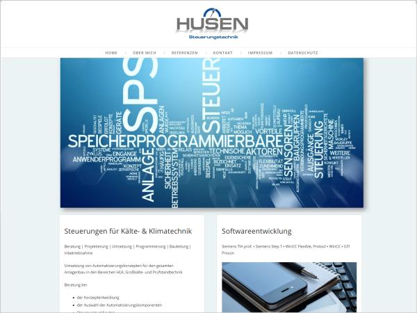 Responsive Webdesign - Referenz Husen Steuerungstechnik