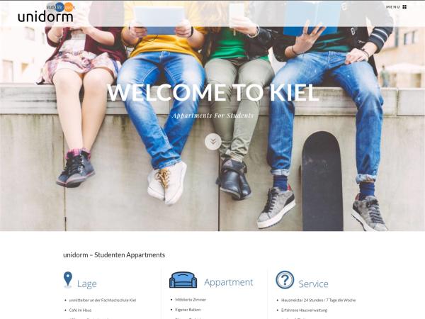 Responsive Webdesign - Referenz unidorm Kiel