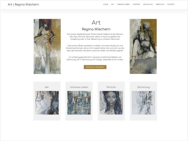 Responsive Webdesign - Referenz Art | Regina Wiechern