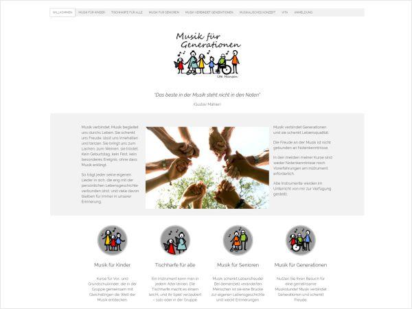 Responsive Webdesign - Referenz Musik für Generationen - Ute Hansen