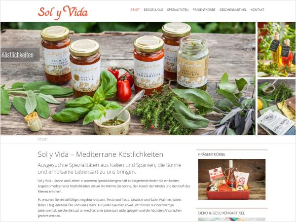 Responsive Webdesign Referenz - Sol y vida - Bargteheide