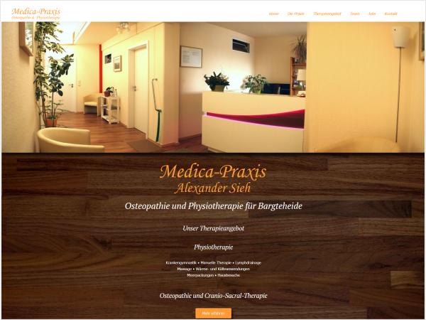 Responsive Webdesign - Referenz Medica-Praxis, Bargteheide