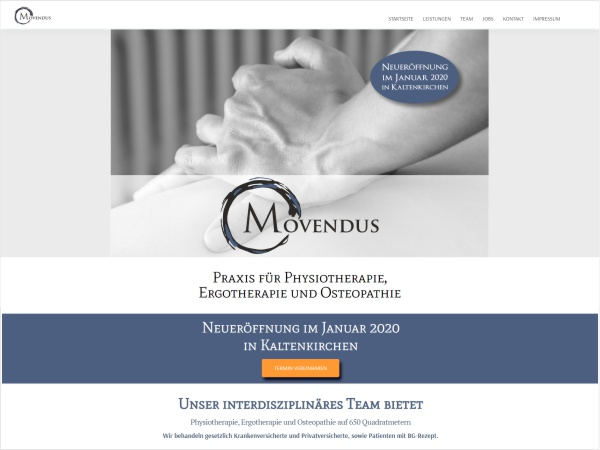 Responsive Webdesign - Referenz MOVENDUS - Praxis für Physio- & Ergotherapie Kaltenkirchen