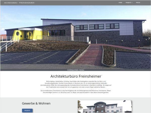 Responsive Webdesign - Referenz Architekturbüro Freinsheimer, Reinbek