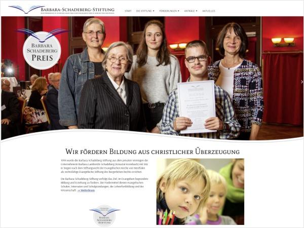 Responsive Webdesign - Referenz Barbara-Schadeberg-Stiftung