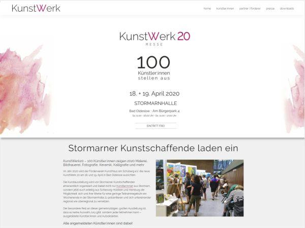 Website für KunstWerk Stormarn