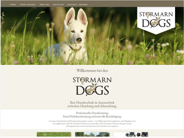 Responsive Webdesign - Referenz Hundeschule Stormarn Dogs