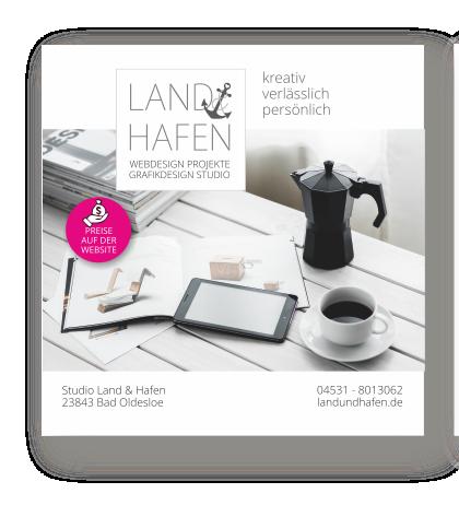Folder Land & Hafen - Grafik & Webdesign