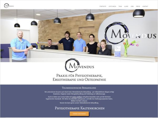 Movendus - Webdesign + Logo + CD
