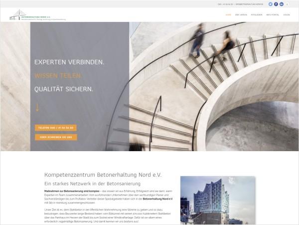 Portfolio Webdesign Betonerhaltung Nord e.V.