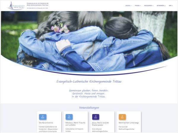 Kirchengemeinde Trittau Portfolio Webdesign