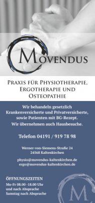 Flyer MOVENDUS - Praxis für Physio- und Ergotherapie